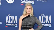 Carrie Underwood Dons Dramatic, Sparkly Look For The ACMs