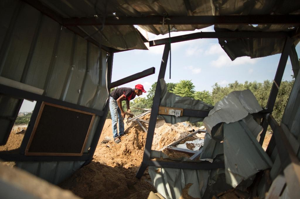 Rubble in Beit Lahia in the northern Gaza Strip following an Israeli airstrike the day before (AFP Photo/MAHMUD HAMS)