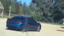 Dodge Charger SRT Widebody spied filming a commercial