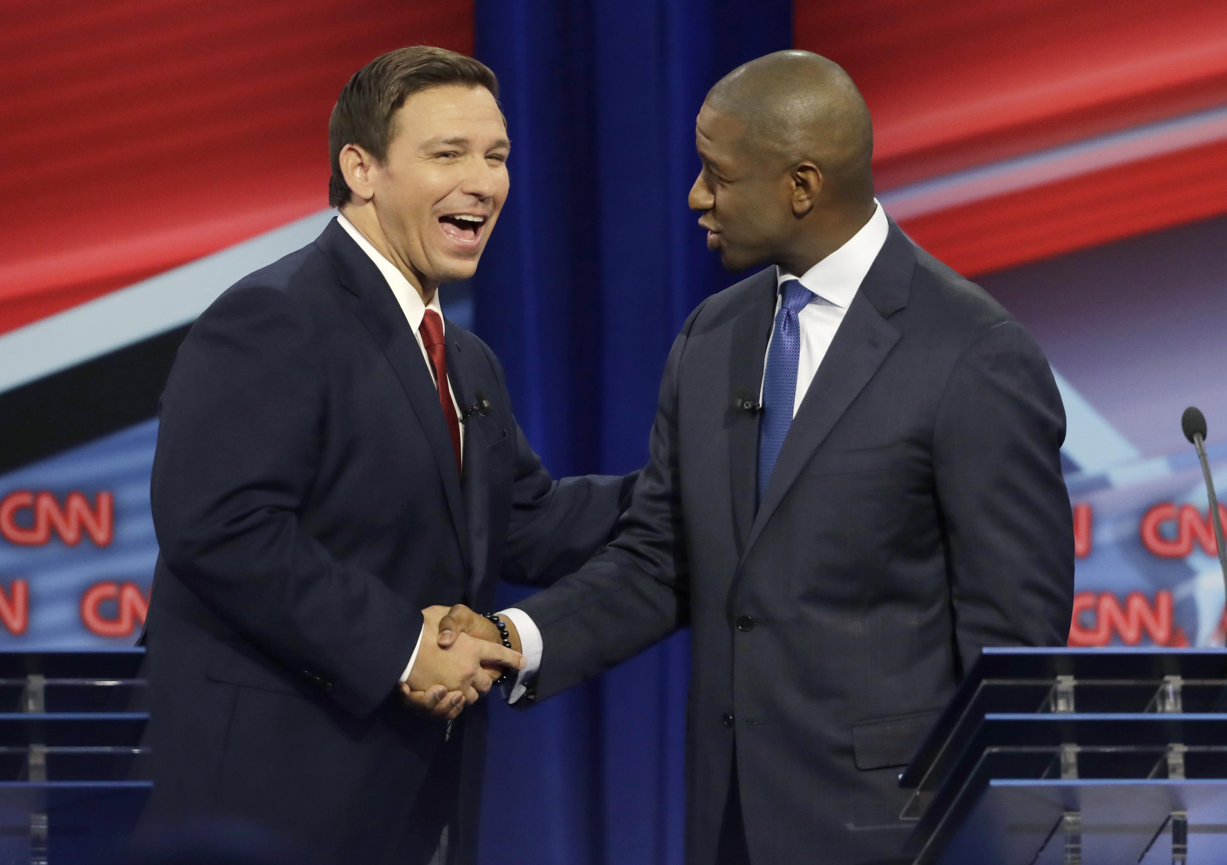 DeSantis, Gillum debate Trump and more in Florida debate