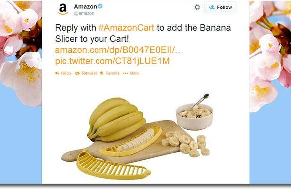 Add items to your #AmazonCart directly from Twitter