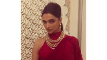 Deepika Padukone's Contemporary Red Sari Should Be Your Next Cocktail Party Wear