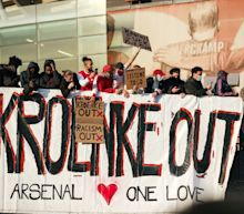 Arsenal fans launch massive protest at Emirates Stadium after failed Super League