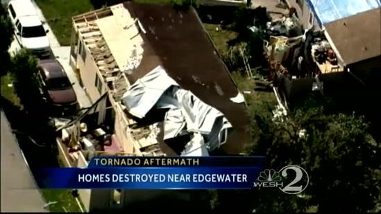 NWS confirms tornado touched down in Edgewater