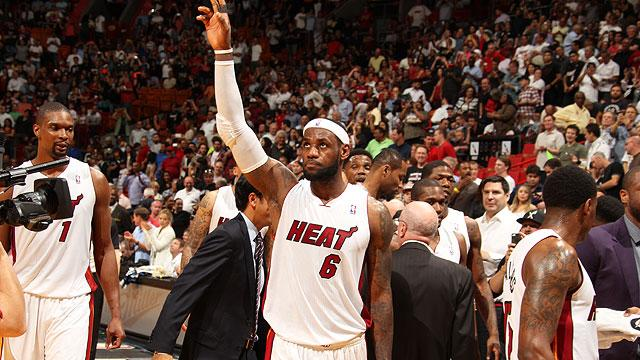Where does LeBron James' career night rank?