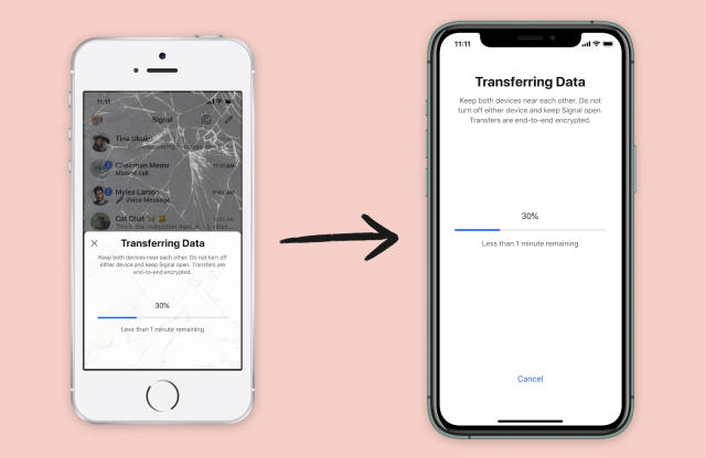 Now Signal on iOS can securely transfer your data to a new device
