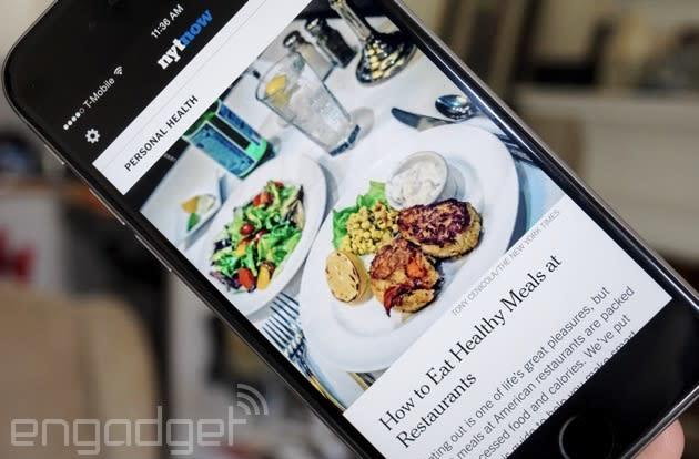 NYT Now news app goes free, ending a subscription experiment