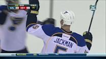Barret Jackman blows one past Jimmy Howard