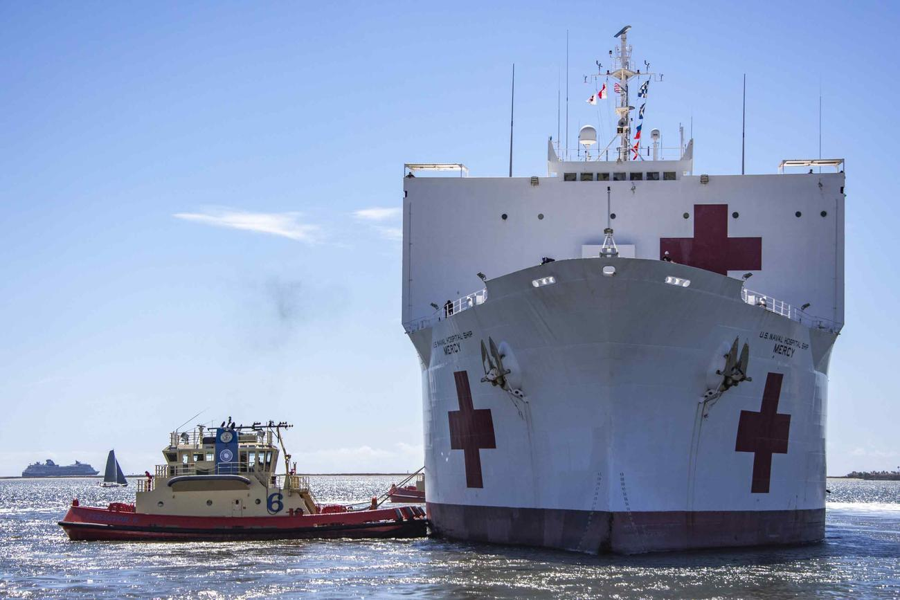 Pentagon May Relocate One of its 2 Navy Hospital Ships