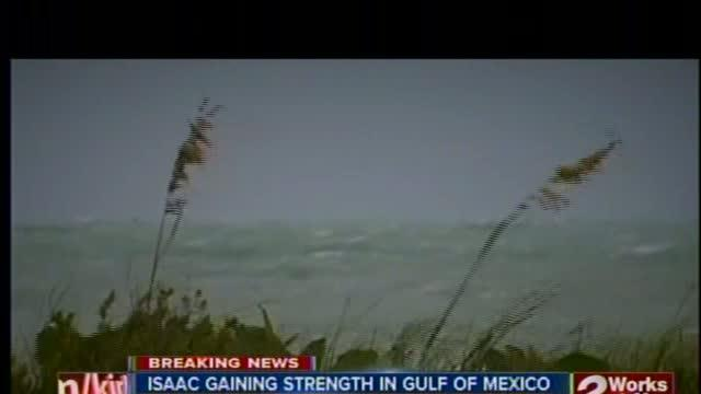 Tropical Storm Isaac gains strength