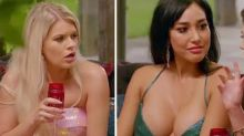 Bachelor's Juliette risks wardrobe malfunction in plunging gown