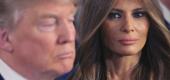Donald and Melania Trump. (Yahoo)
