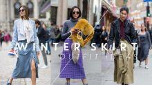 裙子冬天要怎樣穿?20 個冬日裙子街拍造型,為你帶來滿滿的靈感!
