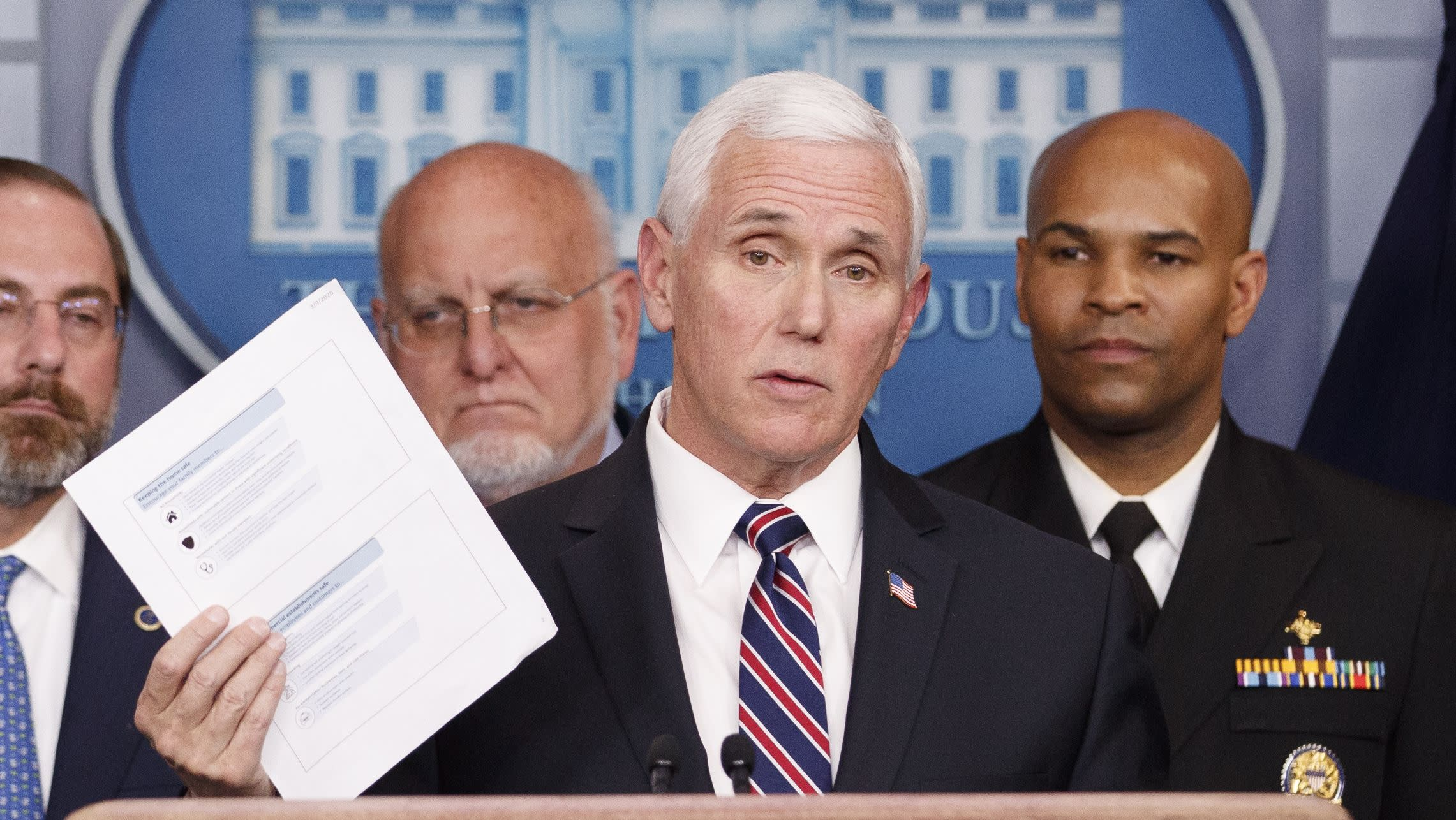 News post image: Pence: Private insurers to cover coronavirus treatment