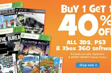 Toys R Us buy one, get one 40% off sale on hundreds of games