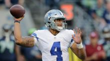 Dallas Cowboys QB Dak Prescott upbeat, driven and throwing it well, per Mike McCarthy