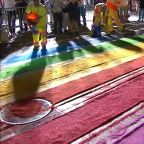 NYC Pride: Crews paint rainbow crosswalk outside Stonewall Inn
