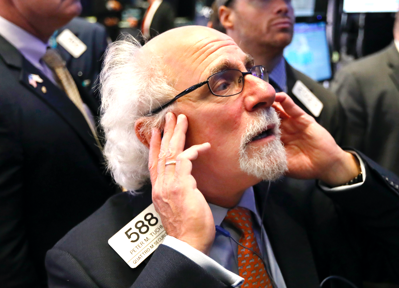 Market rout continues, Dow loses 545 points
