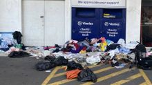 Why this 'horrible' photo from outside Vinnies has sparked outrage