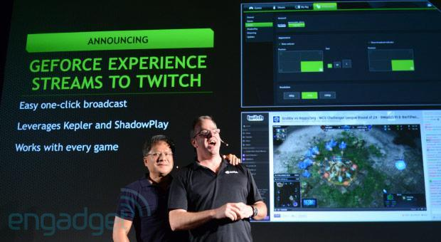 NVIDIA's GeForce Experience will stream directly to Twitch, Shadowplay coming on October 28th