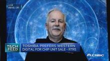Toshiba's 'following the cash'