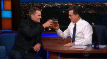 Tom Brady chugs beer like a champion on 'The Late Show'