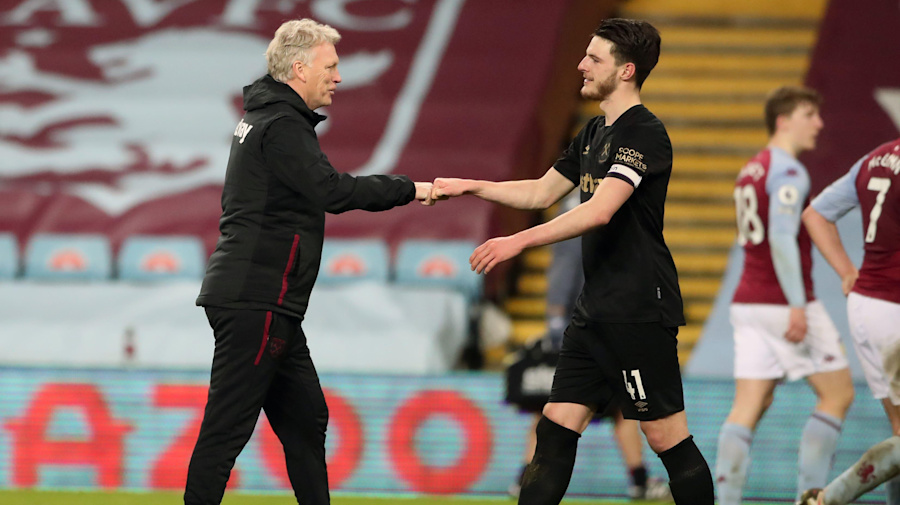 West Ham boss David Moyes: Declan Rice is battling his way back to fitness