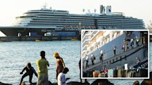 Cruise passenger tests positive for coronavirus after hundreds disembark
