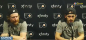 Flyers forward Jakub Voracek, teammate Travis Konecny. (NBC Sports)