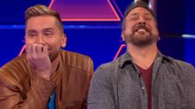 Lance Bass Loses Bet, Wears Joey Fatone's Wiener Costume on '$100,000 Pyramid'