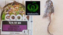 Man 'swallows' part of dead frog in Woolworths salad