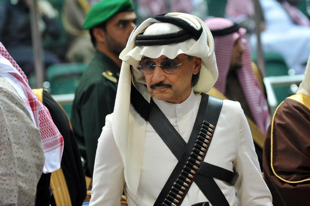 A file photo from February 18, 2014 of Prince Al-Waleed bin Talal attending a cultural festival in Riyadh (AFP Photo/Fayez Nureldine)
