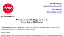 AMC Entertainment Holdings, Inc. Reports Second Quarter 2020 Results