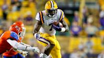 LSU's Leonard Fournette Poses In A Leap Second