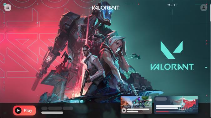 Riot Client featuring 'Valorant'