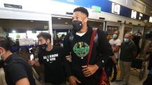 Antetokounmpo brothers bring NBA trophy home to Greece