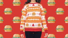 Popeye's is selling a chicken sandwich-themed Christmas sweater — is 2019 over yet?