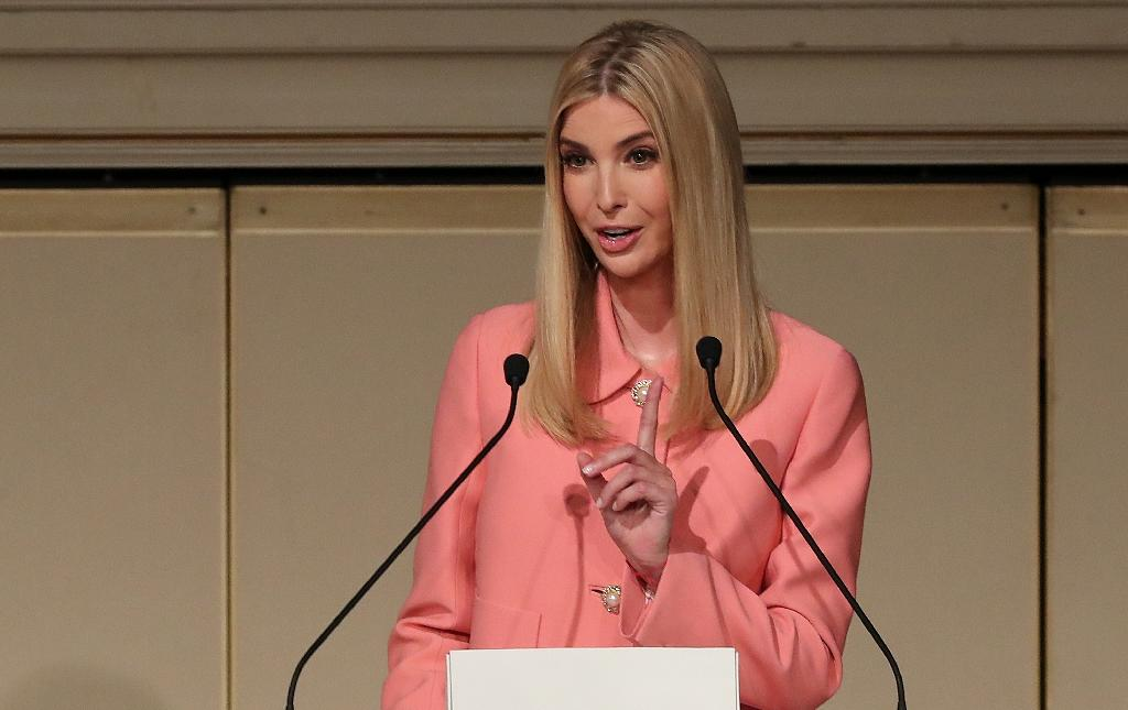 Ivanka Trump, whose father Donald was caught on a hot mic boasting about groping women, told a Tokyo audience sexual harassment of women should 'never be tolerated'