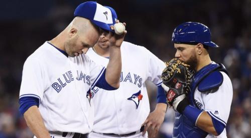 J.A. Happ, Russell Martin. Justin Smoak, Kevin Pillar, MLB, Blue Jays, Toronto Blue Jays