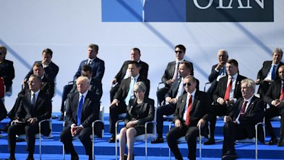 For once, Trump stays silent about Nato unity – and US allies are disappointed