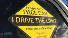 Cochrane neighbourhood launches pace car program to slow down speeding drivers