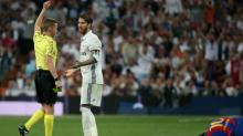 Foot - ESP - Real - Sergio Ramos (Real Madrid) trouve injuste son carton rouge contre Barcelone