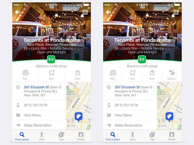 Foursquare shows off its new look for local searches