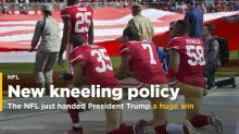 The NFL's new national anthem policy just handed Donald Trump a huge win