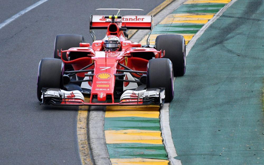 Kimi Raikkonen navigates the Albert Park track during Australian Grand Prix qualification - AAP