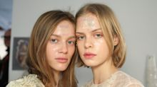 'Glacials' have landed: Glitter facials debut at London Fashion Week