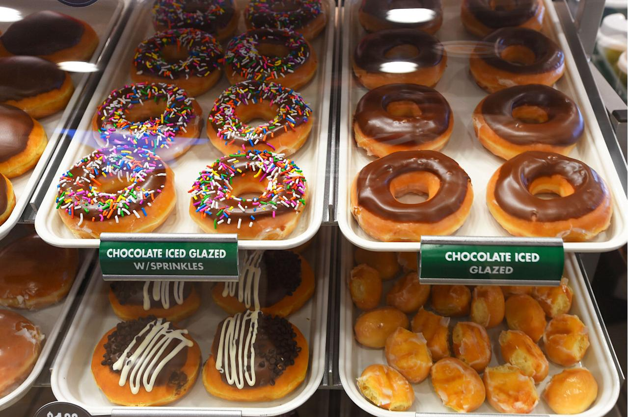 This famous American doughnut was so hyped about that foodies started queuing up 22 hours before the opening of its first Singapore store. With its vast array of yummy flavours and toppings, Krispy Kreme is still a popular food spot for Singaporeans to satisfy their sweet tooth. (Associated Press)