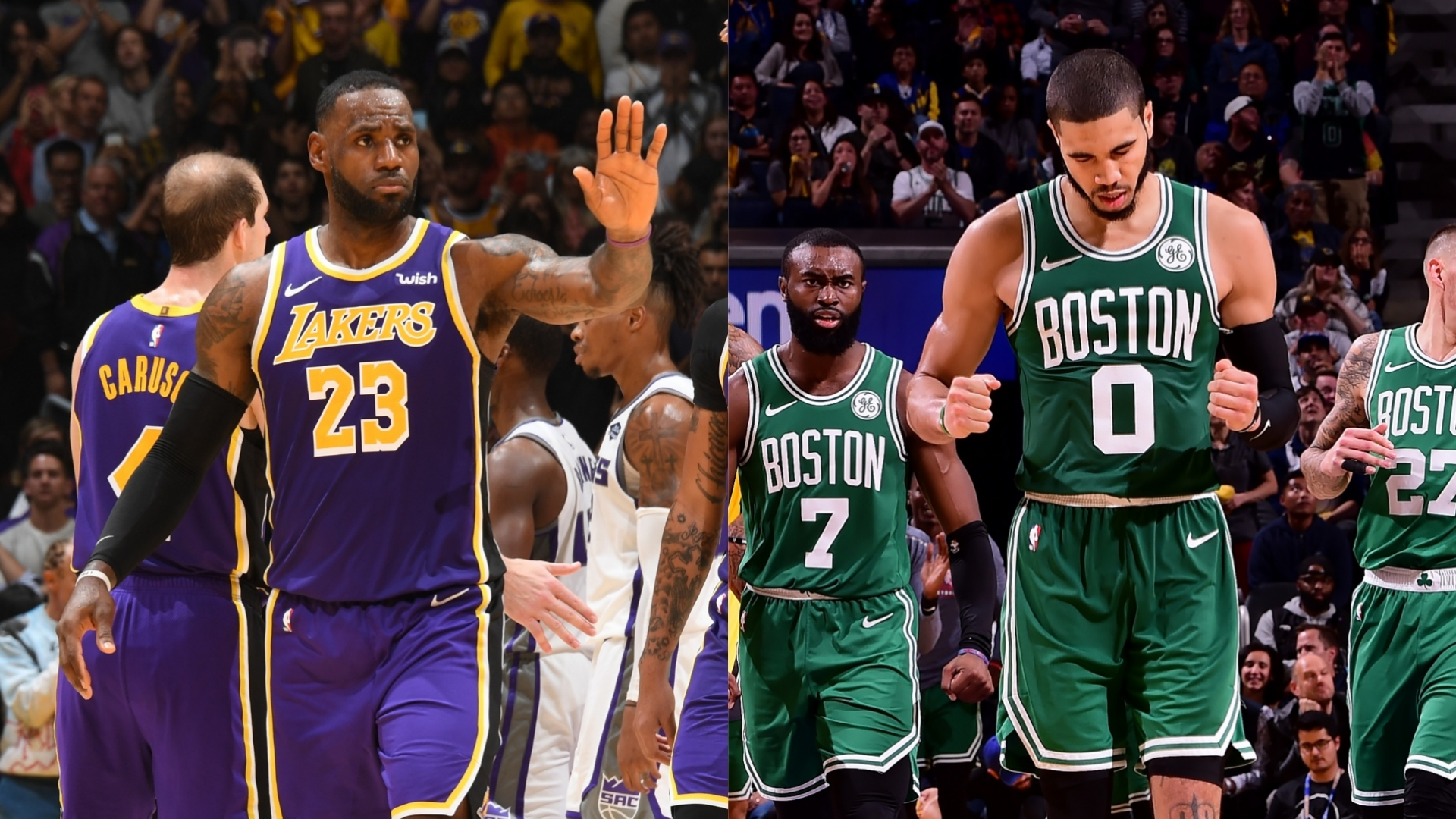 Behind clutch plays, Los Angeles Lakers edge the Sacramento Kings, while Boston Celtics win their 10th-straight game