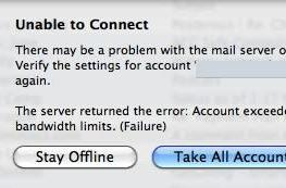 """Getting bit by the Gmail """"exceeded IMAP bandwidth limits"""" bug"""