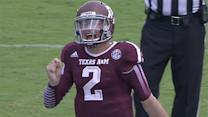 Manziel jaws with Rice defender